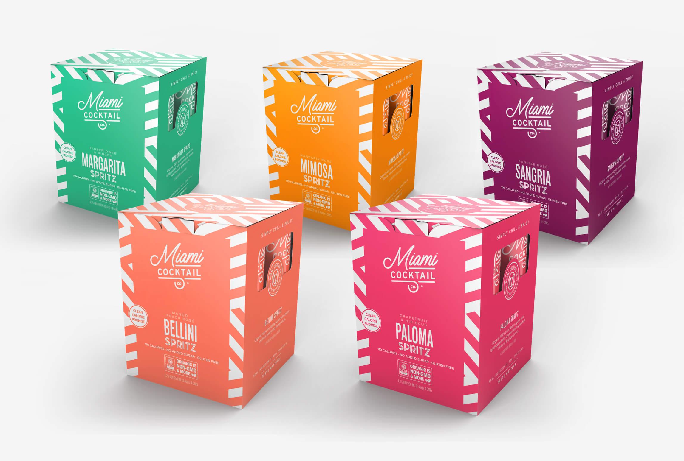 Miami Cocktail Box Designs