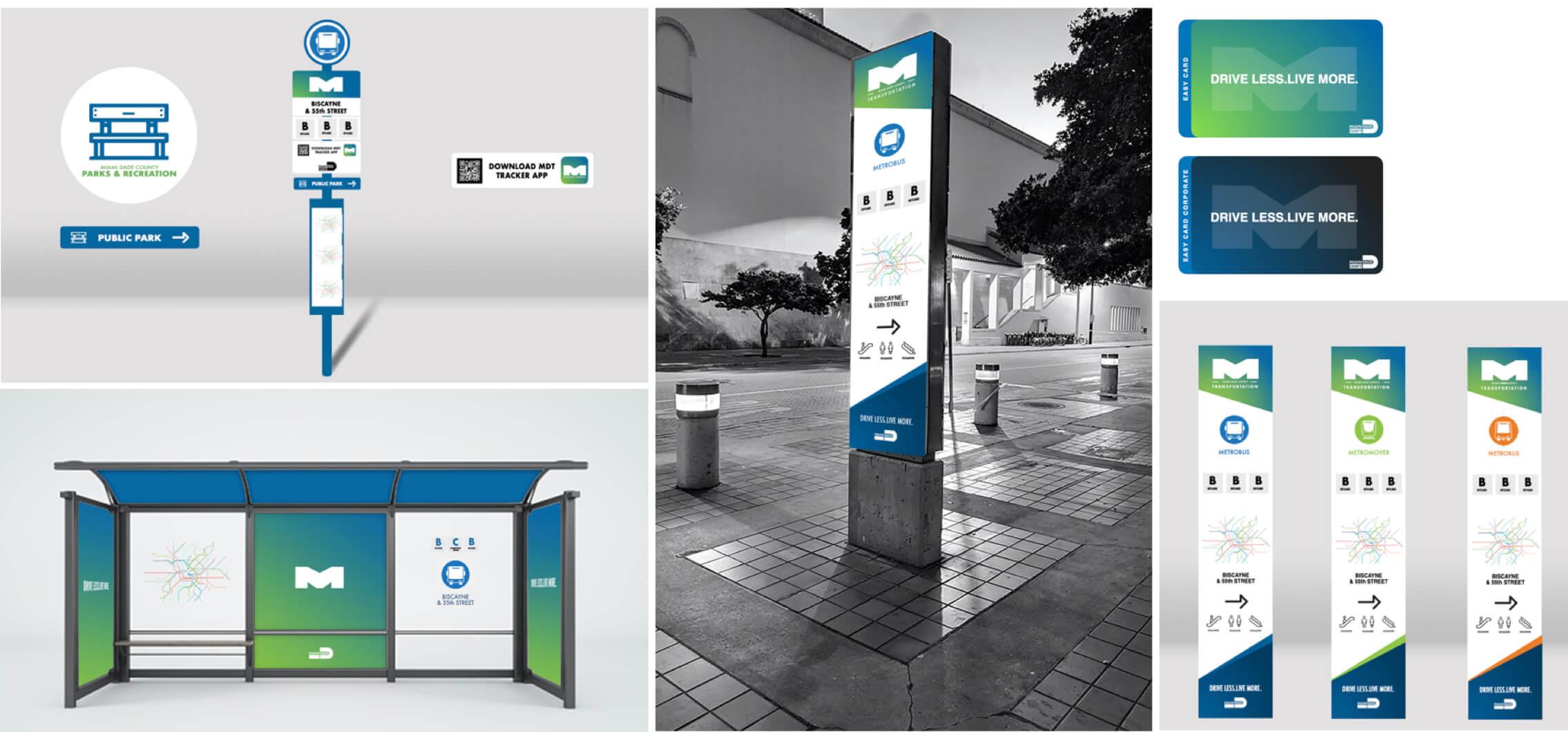 Miami Dade Transit Metro and Bus Stop Design