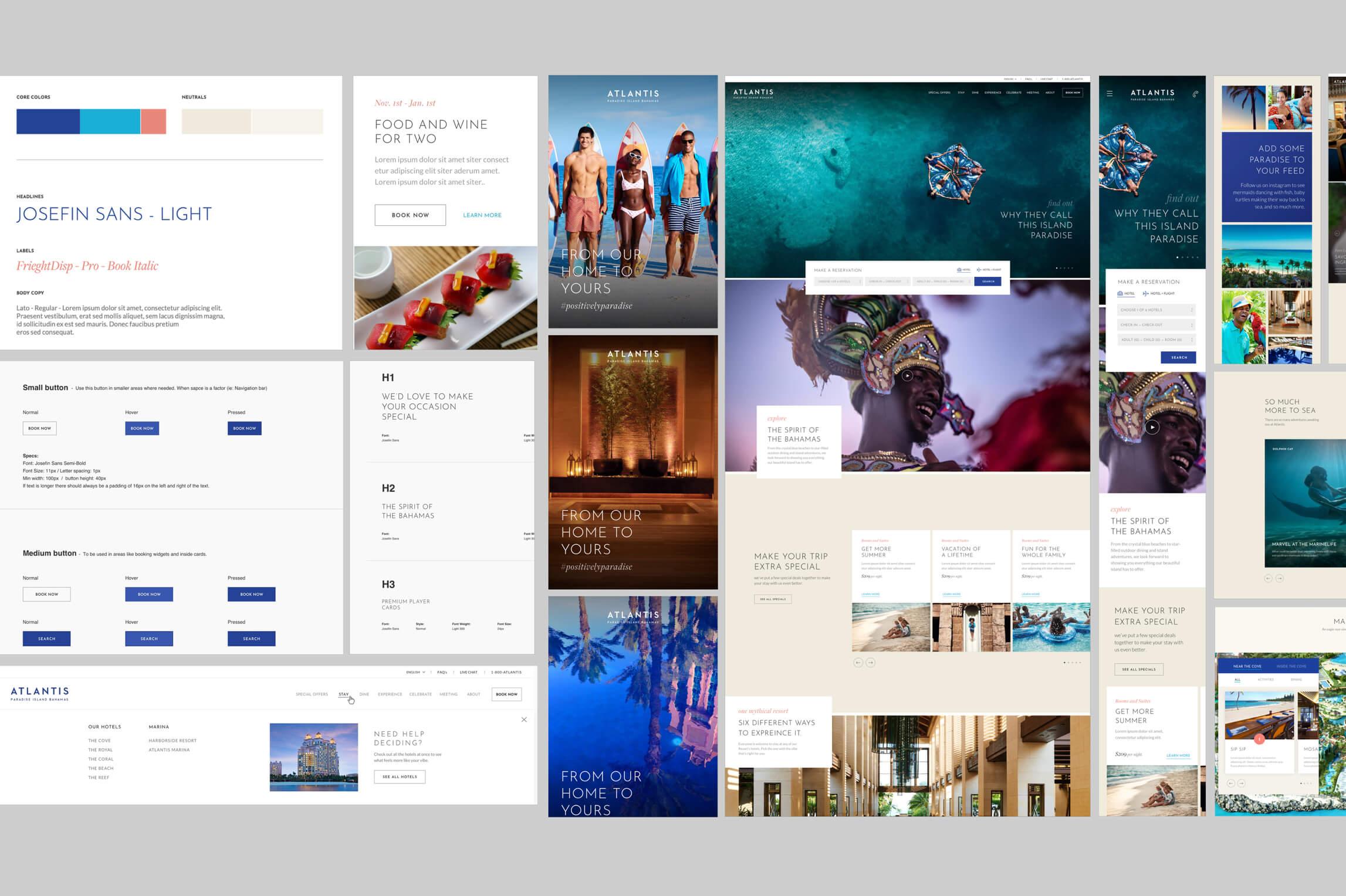 Atlantis Web Design Layout