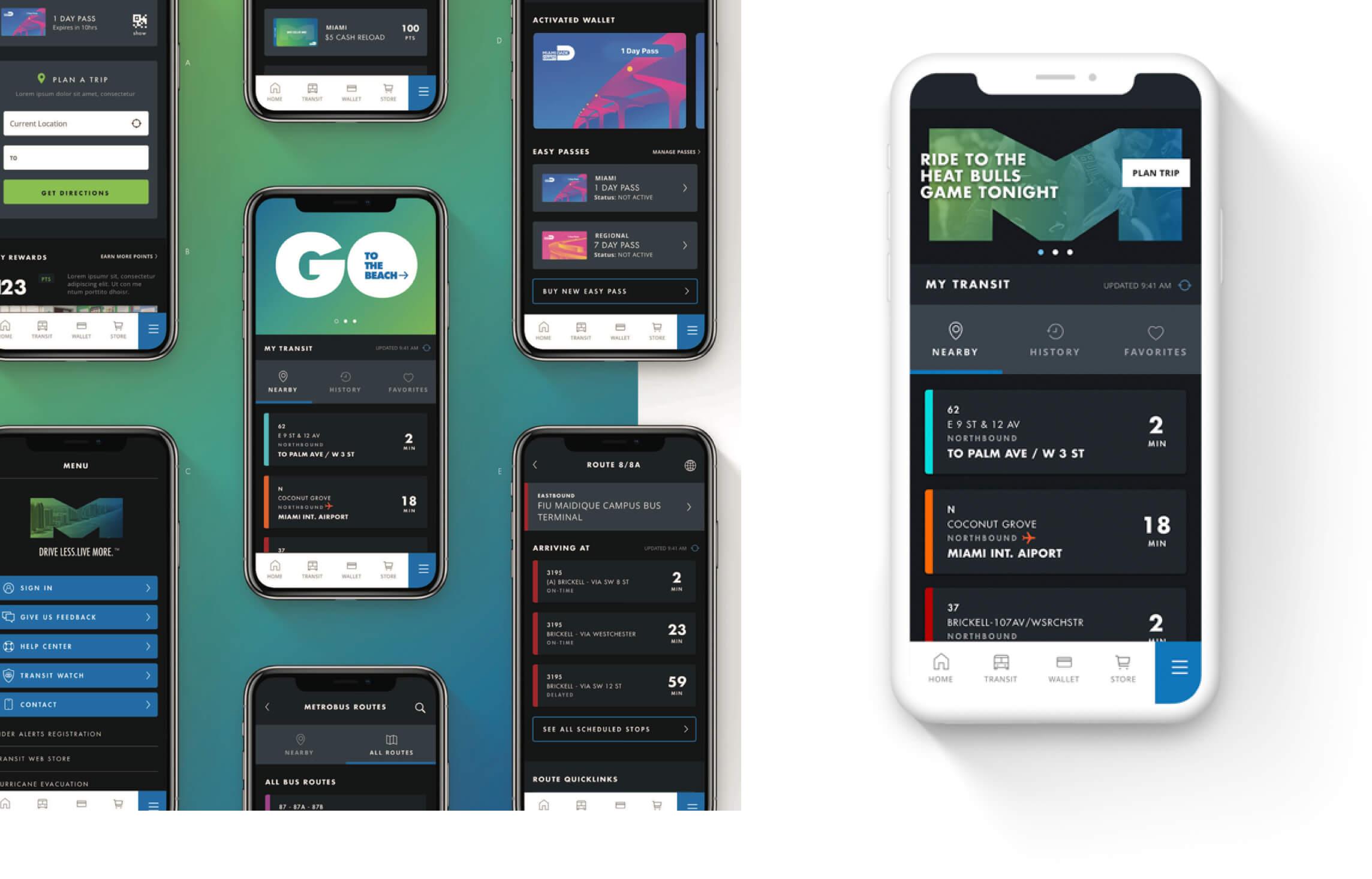 Miami Dade Transit Mobile App Design