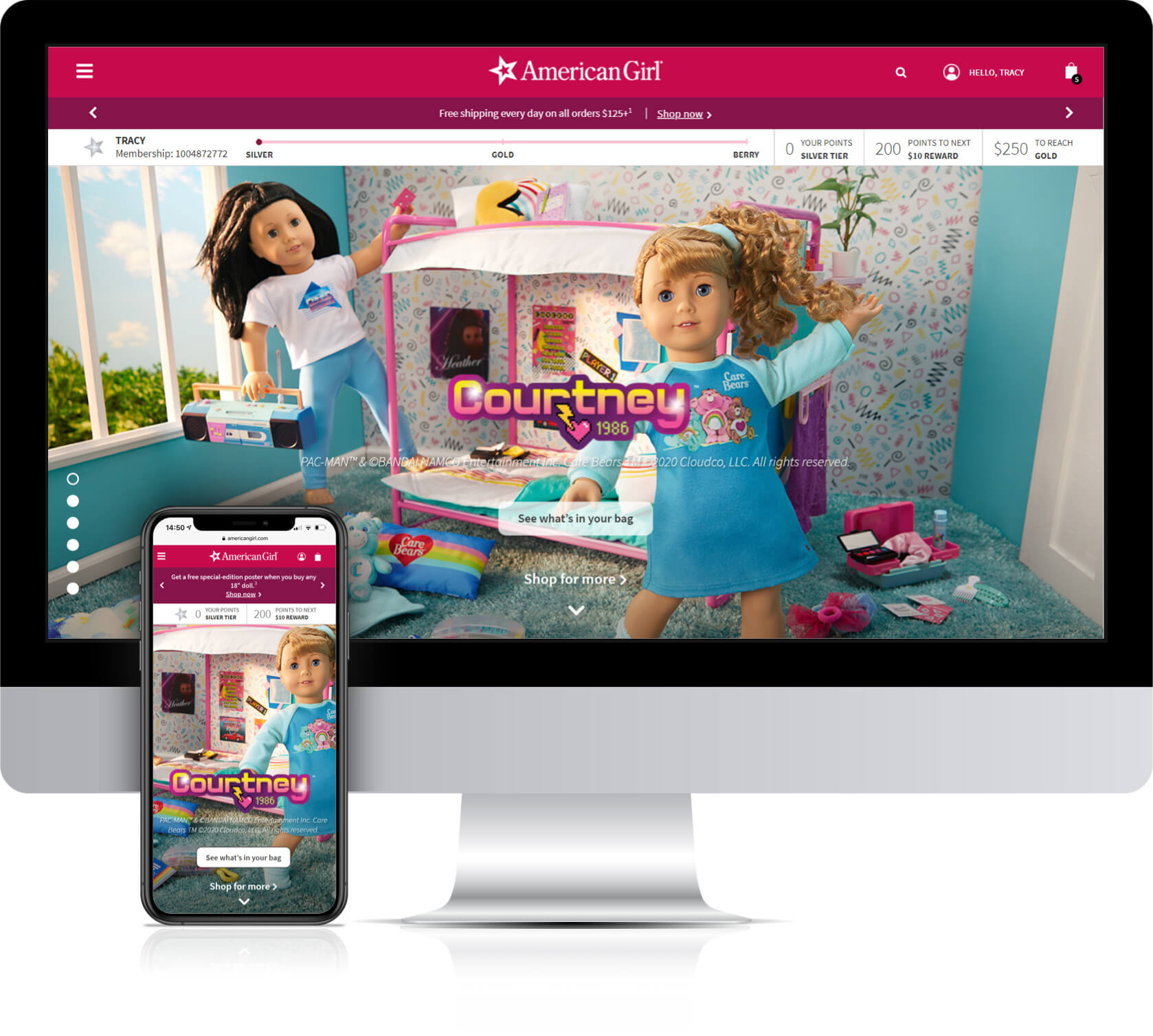 American Girl Account Web Page