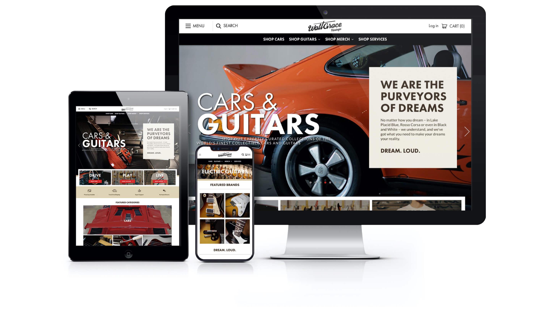 Walt Grace Website on Multiple Devices